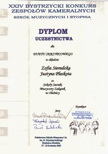 Dyplom Bystrzyca 2015.1